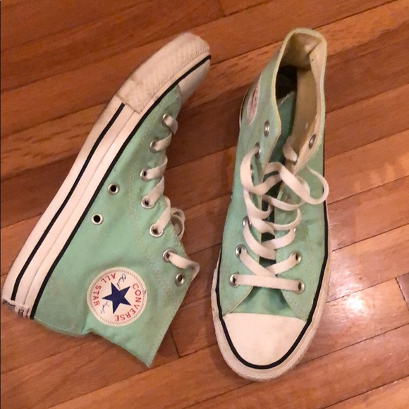 Converse Shoes - Seafoam mint green high top converse cf8cc7fb5